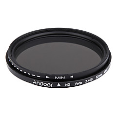Andoer 52mm nd fader densidad neutra ajustable nd2 a nd400 filtro variable para Canon nikon dslr cámara