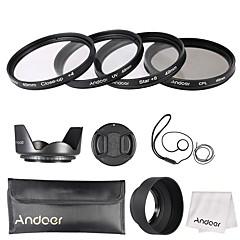 Andoer 49mm lens filter kit (uv cpl star8 close-up4)