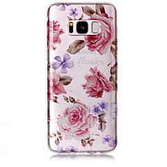 halpa Galaxy S6 Edge kotelot / kuoret-Etui Käyttötarkoitus Samsung Galaxy S8 Plus S8 IMD Kuvio Takakuori Kukka Kimmeltävä Pehmeä TPU varten S8 Plus S8 S7 edge S7 S6 edge S6