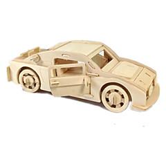 voordelige -Speelgoedauto's 3D-puzzels Legpuzzel Houten modellen Vliegtuig Automatisch 3D DHZ Hout Klassiek Jongens Unisex Geschenk