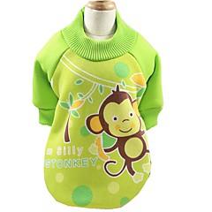 Hund Frakker T-shirt Sweatshirt Hundetøj Fest Afslappet/Hverdag Sport Mode Dyr Brun Grøn Blå Lys pink Lyseblå