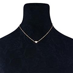 お買い得  ネックレス-女性用 チョーカー  -  ハート Dainty, オリジナル, ファッション ゴールド, シルバー ネックレス ジュエリー 用途 日常着, 日常, カジュアル