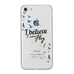 お買い得  iPhone 5S/SE ケース-ケース 用途 Apple iPhone 7 / iPhone 7 Plus パターン バックカバー ワード/文章 ソフト TPU のために iPhone 7 Plus / iPhone 7 / iPhone 6s Plus