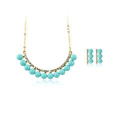 Mujer Collares con colgantes Cristal Perla artificial Circular Colgante Geométrico Cosecha Ajustable Clásico joyería de disfraz Plateado