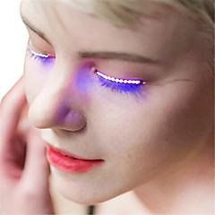 cheap LED Novelty Lights-YWXLight® 1 Pair Luminous Eyes LED Eyelash Lamp Double Skin Stickers False Eyelashes Lamp For Halloween Bar