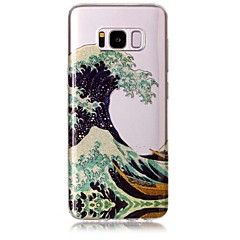 Χαμηλού Κόστους Galaxy S6 Edge Θήκες / Καλύμματα-tok Για Samsung Galaxy S8 Plus S8 IMD Με σχέδια Πίσω Κάλυμμα Γραμμές / Κύματα Λάμψη γκλίτερ Μαλακή TPU για S8 Plus S8 S7 edge S7 S6 edge