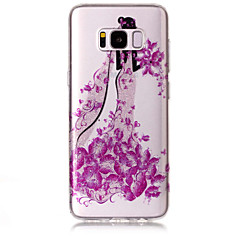 halpa Galaxy S6 Edge kotelot / kuoret-Etui Käyttötarkoitus Samsung Galaxy S8 Plus S8 IMD Kuvio Takakuori Perhonen Sexy Lady Kimmeltävä Pehmeä TPU varten S8 Plus S8 S7 edge S7