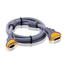 DVI Кабель-переходник, DVI to VGA Кабель-переходник Male - Male Позолоченная медь 3.0M (10Ft)