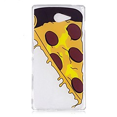 Чехол для sony m2 xa чехол чехол для пиццы tpu материал imd корпус для мобильного телефона