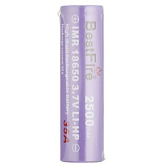Best Fire IMR18650 3.7V LI-HP Rechargeable Battery 2500mAh