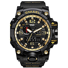 cheap Watch Deals-SMAEL Men's Sport Watch / Military Watch / Digital Watch Japanese Calendar / date / day / Chronograph / Water Resistant / Water Proof PU / Silicone Band Casual / Fashion Black / Red / Orange