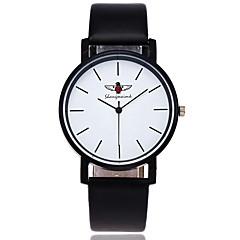 preiswerte Damenuhren-Herrn Armbanduhr Chinesisch Armbanduhren für den Alltag PU Band Charme / Luxus / Freizeit Schwarz / Weiß