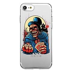 Pour 7plus téléphone étui transparent motif back cover case crâne halloween soft tpu pour iphone 7 6splus 6plus 6 6s 5 5s se