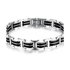 abordables Bijoux pour Femme-Homme Bracelet - Acier au titane Personnalisé, Style Simple, Mode Bracelet Noir Pour Anniversaire Cadeau Quotidien