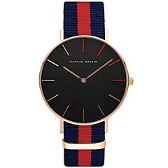 preiswerte Armbanduhren für Paare-Paar Sportuhr / Armbanduhr Chinesisch Wasserdicht / Kreativ / Cool Stoff Band Charme / Luxus / Retro Schwarz / Weiß / Blau / Edelstahl