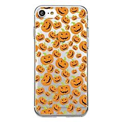 Dla obudowy przypadku iphone 7plus przezroczystego wzoru obudowy tylnej obudowy przypadku halloween uśmiechnięta twarz miękkiej tpu dla