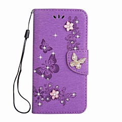 Case for Sony Xperia L1 XA1 Ultra Wallet Rhinestone Embossed Butterfly PU Leather Case for Sony XA1 E5 XZ XZs XA Ultre X compact XZ Premium