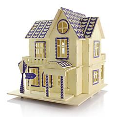 Bausteine 3D - Puzzle Holzpuzzle Modellbausätze Spielzeuge Architektur 3D Heimwerken Simulation Unisex Stücke
