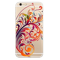 저렴한 -케이스 제품 Apple iPhone X iPhone 8 iPhone 8 Plus 투명 패턴 뒷면 커버 꽃장식 소프트 TPU 용 iPhone X iPhone 8 Plus iPhone 8 iPhone 7 Plus iPhone 7 iPhone 6s