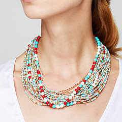 Women's Strands Necklaces Statement Necklaces Jewelry Alloy Fashion European Elegant Bohemian Festival/Holiday Costume Jewelry Jewelry For