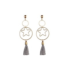 preiswerte Ohrringe-Herrn Damen Tropfen-Ohrringe - Stern Personalisiert, Klassisch, Quaste Gold Für Hochzeit Party Geburtstag