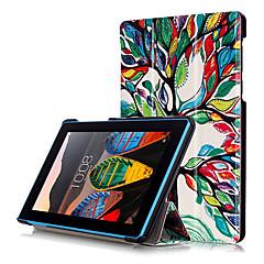 olcso Táblagép tokok-Case Kompatibilitás Lenovo Héjtok Tablet tokok Kemény PU bőr mert