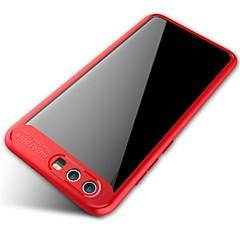 お買い得  Huawei Pシリーズケース/ カバー-ケース 用途 Huawei ミラー クリア バックカバー 純色 ソフト シリコーン のために Honor 9 Honor V9 Huawei