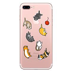 voordelige iPhone 6s hoesjes-Case voor apple iphone 7 7 plus case cover ballon kat patroon geschilderd hoge penetratie tpu materiaal zacht geval telefoon hoesje voor