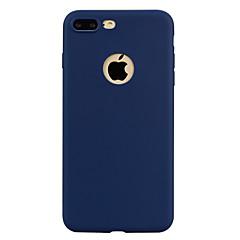 Назначение iPhone X iPhone 8 Чехлы панели Полупрозрачный Задняя крышка Кейс для Сплошной цвет Мягкий Термопластик для Apple iPhone X