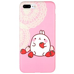 Случай для яблока iphone 7 плюс iphone 7 обложка матового шаблона задней крышки случая мультфильма мягкой tpu для iphone 6s плюс iphone 6