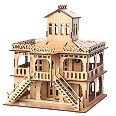 abordables Puzzles 3D-Puzzles 3D Puzzle Edificio Famoso Casa De madera Madera Natural Unisex Regalo