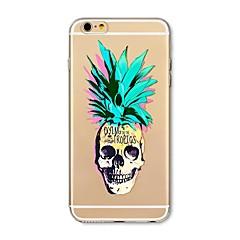 Чехол для iphone 7 плюс 7 крышка прозрачный узор задняя крышка чехол фрукты ананас череп мягкий tpu для яблока iphone 6s плюс 6 плюс 6s 6
