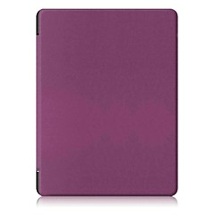 Solid Color Pattern PU Leather Case with Stand for KOBO Aura H2O Edition 2 6.8 inch Tablet PC