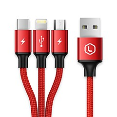 USB 2.0 Kabel, USB 2.0 to USB 2.0 Typ C Micro USB 2.0 Lightning Kabel Hane - hane 1.2m (4ft)