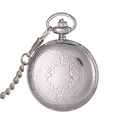 abordables Relojes de Bolsillo-Hombre Reloj de Bolsillo Reloj de Moda Reloj de Pulsera Cuarzo Aleación Banda Plata