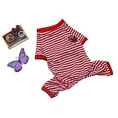Câine Pijamale Îmbrăcăminte Câini Casul/Zilnic Dungi Roz trandafiriu Trandafiriu Rosu Albastru Roz Costume Pentru animale de companie