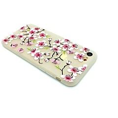 Чехол для яблока iphone 7 плюс 7 матовый тисненый узор задняя крышка цветок мягкий tpu 6s плюс 6 плюс 6s 6