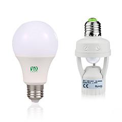 7W E27 LED-globepærer 14 leds SMD 2835 Dekorativ Menneskekroppssensor Varm hvid Hvid 600-700lm 6000-6500/2800-3200