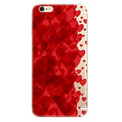 cheap iPhone 5S / SE Cases-Case For Apple iPhone 7 Plus iPhone 7 Transparent Pattern Back Cover Heart Soft TPU for iPhone 7 Plus iPhone 7 iPhone 6s Plus iPhone 6s
