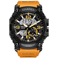 SMAEL Męskie Zegarek na nadgarstek Sportowy Zegarek cyfrowy Modny Cyfrowe Alarm Wodoszczelny LED Świecący Dwie strefy czasowe Guma Pasmo