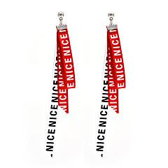 preiswerte Ohrringe-Damen Mehrschichtig Tropfen-Ohrringe - Personalisiert, Quaste, Modisch Weiß / Schwarz / Schwarz / weiss Für Normal / Party / Strasse