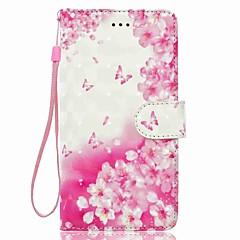 Недорогие Чехлы и кейсы для Huawei серии Y-Кейс для Назначение Huawei P9 Lite Huawei Huawei P8 Lite Бумажник для карт Кошелек со стендом Чехол Цветы Мягкий Кожа PU для P10 Lite P10