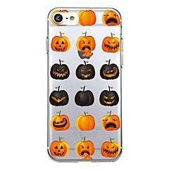For 7Plus Phone Case Transparent Pattern Back Cover Case Tile Fruit Halloween Soft TPU for iPhone 7  6sPlus  6Plus 6 6s 5 5s se