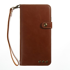 tanie Etui do iPhone 7 Plus-Kılıf Na Apple iPhone 7 Plus iPhone 7 Etui na karty Portfel Z podpórką Flip Pełne etui Solid Color Twarde Skóra PU na iPhone 7 Plus