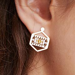 preiswerte Ohrringe-Damen Tropfen-Ohrringe - Edelstahl, vergoldet Einzigartiges Design, Böhmische, Euramerican Leicht Grün / Melonen-Rot und Weiß / Blau + Weiß Für Jahrestag Geburtstag Party