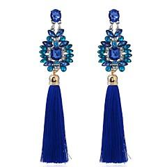 Dame Dråbeøreringe Syntetisk safir Mode Vintage Personaliseret Overdimensionerede Blomstformet Smykker Til Fest Anden Ceremoni
