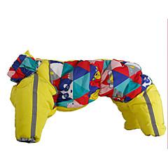 Χαμηλού Κόστους Ρούχα και αξεσουάρ για σκύλους-Σκύλος Παλτά Φόρμες Ρούχα για σκύλους Ζεστό Καθημερινά Γεωμετρικές Βυσσινί Κίτρινο Μπλε Στολές Για κατοικίδια