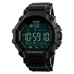 preiswerte Digitaluhren-SKMEI Herrn Sportuhr Smartwatch Armbanduhr Japanisch Digital 50 m Wasserdicht Alarm Kalender PU Band digital Luxus Modisch Einzigartige kreative Uhr Schwarz - Schwarz / Fernbedienungskontrolle / LED