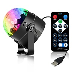 tanie Oświetlenie wewnętrzne-3W 3 Diody LED Zdalnie sterowana Dekoracyjna Oświetlenie sceniczne LED RGB DC5V