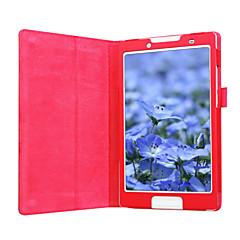 お買い得  タブレット用ケース-ケース 用途 Lenovo フルボディケース スタンド付き フルボディーケース ソリッド ハード PUレザー のために